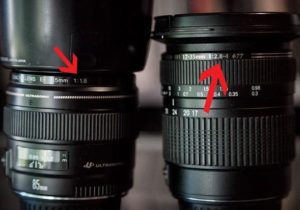 meaning of numbers on Camera Lens